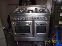 scandinova gas range cooker