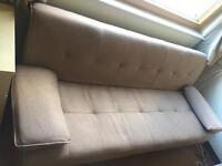 Veelar Modern Upholstered fabric 3 Seater Sofa Bed (Camel)