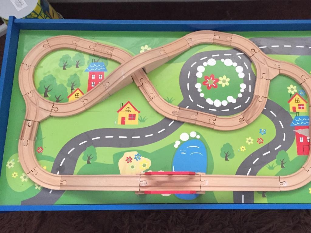 Chad valley wooden train set table. | in Bromley, London | Gumtree