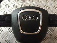 GENUINE AUDI Q7 S-LINE STEERING WHEEL WITH AIRBAG