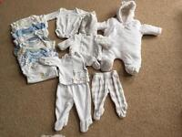 Baby clothes- tiny baby and first size - 37 items