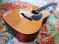 ACOUSTIC GUITAR NEVADA DREADNOUGHT NATURAL FINISH IN GREAT CONDITION