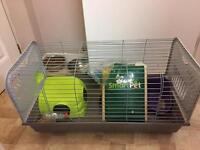 Indoor rabbit/guinea pigs hutch + outdoor hutch
