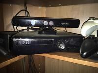 Xbox 360 with Kinect drums guitars and lots of games