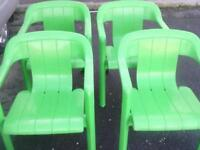 4 b&q chairs and b&q