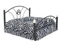 metal framed dog bed