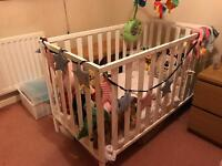 Cot for sale with mattress and bumper £120