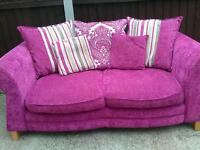 Pink 2 seater settee