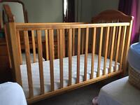 Mamas & Papas large cot with brand new mattress