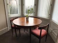 G Plan Round Extending Dining Table & Three Chairs