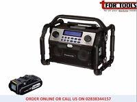 Panasonic EY37A2B 14.4v 18v Bluetooth Portable Radio + 2.0Ah Battery
