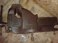 Bench vice - very heavy and in good condition for its age