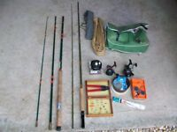 FLY & Course Fishing rods + selection of tackle