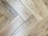 Engineered oak Herringbone flooring
