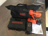 Black and decker drill with set