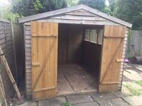 10ft x 8ft Garden Shed, with new roof felt, roof sealant, insulation and screws