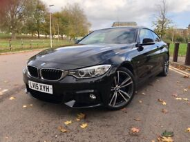 BMW 420D M SPORT, HIGH SPEC, RED LEATHER, SAT NAV, LOW MILEAGE