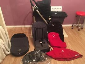 Bugaboo cameleon 2 in black and charcoal full set