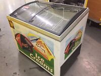 Sliding Curve Glass Lid Ice Cream Chest Display Freezer Frozen Food
