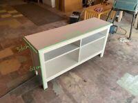 Ikea White wooden TV stand ( slim )