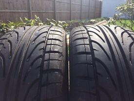 X2 TW0 HAIDA RACING TYRES 225 47 17 GOOD AS NEW 6-7 MM THREAD ACROSS THE WIDTH OF TYRES NO DAMAGE