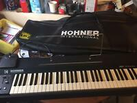 Hohner international keyboard with foot pedal and an amp