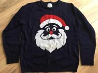Men's Xmas jumper size large santa