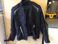 Armoured textile motorcycle jacket