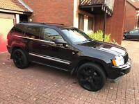 Jeep Grand Cherokee 3.0 crd. Low road tax on this year only. 22 inch black alloys