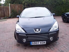 2007 Peugeot 307 Sport Coupe Convertible 3 month warranty 12 month MOT