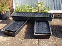 VERY LARGE AQUA IRRIGATION TRAY WITH SHELF. 5ft LONG RIDGE FIBREGLASS.