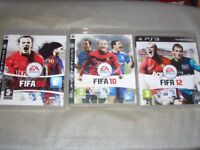 PS3 FIFA 08 - 12 Playstation Football Bundle Joblot 5 off Games