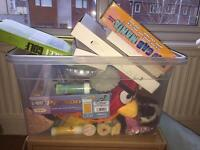 Box of bric a brac/ car boot lot/ stocking fillers