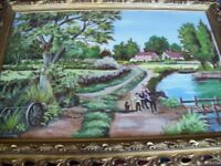 oil painting signed and dated artist D. DILLON DATE 1984 framed