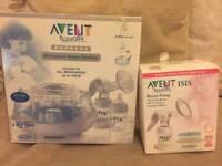 Breast pump and steriliser