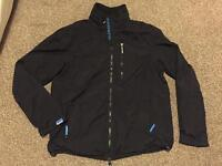 """Men's XL (40-42"""" Chest) Professional Windhiker Coat Jacket in Black with Blue Mesh Lining"""