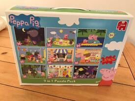 Peppa pig 9 in 1 puzzles