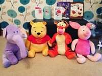 4 Brand New Large Winnie The Pooh Soft Toys