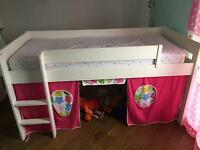 Mid sleeper with slide and ladder and mattress