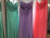 Set of Three Bridesmaid Dresses