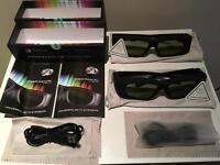 2x Universal Bluetooth 3D Glasses (RRP £80)