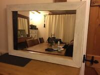 Shabby chic large mirror