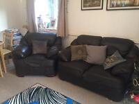 Leather Sofa and arm chair FREE