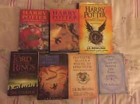 7 books (Harry potter,LOTR,)