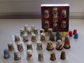 Collection of assorted thimbles 1980s