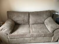 Sofa bed - George home beige/coffee soft chenille. Excellent condition and very comfy!
