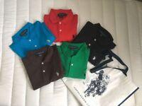 5 Brand New Men's U.S. Polo Assn. Polo Shirts