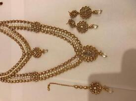 Double necklace bridal Jewellery set