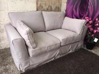 Ashwood Grey Fabric 2 Seater Sofa