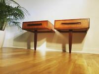 bedside drawers vintage midcentury Gplan